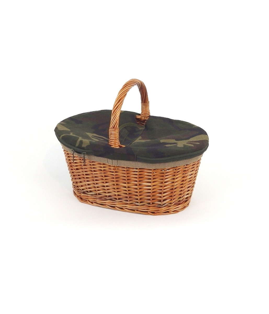OVAL BASKET WITH ZIP CLOSURE